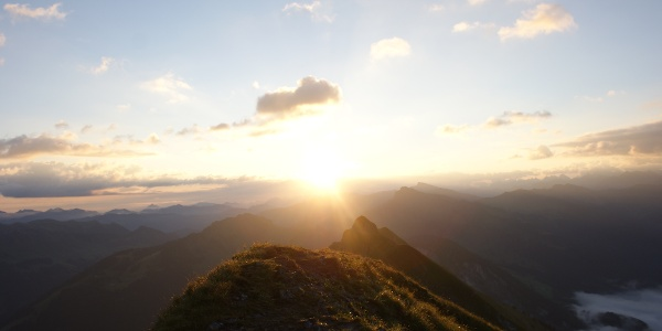 Sonnenaufgangsstimmung auf der Kanisfluh