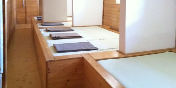 Matratzenlager im Karl Ludwig Haus des ÖTK