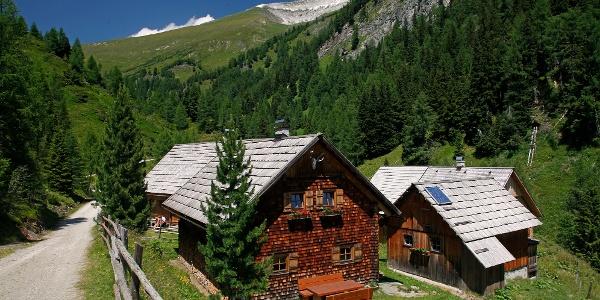 Im Aufstieg zur Sticklerhütte: Zalußenalm & Weißeck