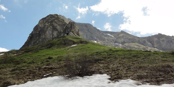 Beim Aufstieg zur Hütte