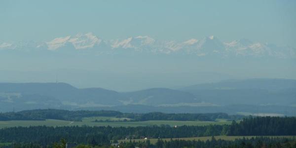 Alpensicht von Attlisberg