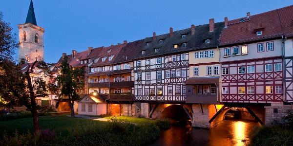 Krämerbrücke am Abend - Erfurt