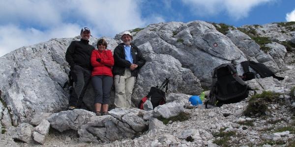 Am Gipfel des Male Mojstrovka