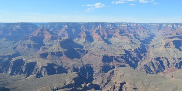 Blick auf den Grand Canyon, im Mittelpunkt der Plateau Point