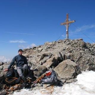 Am Gipfel der Weissseespitze