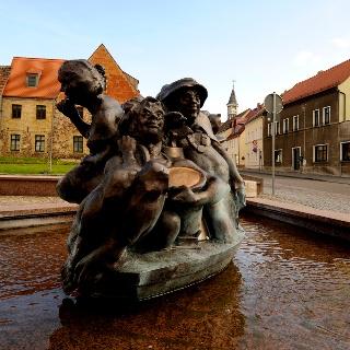 Schildbürgerdenkmal in Schildau ©W. Siesing