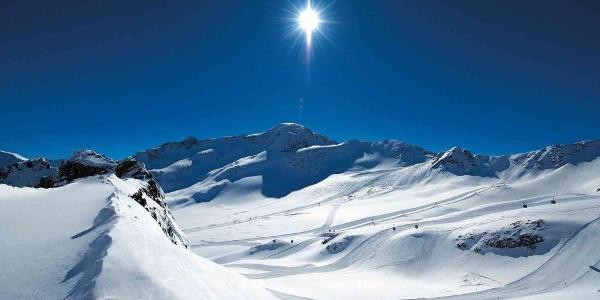 Panoramablick ins Skigebiet