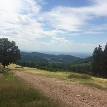 Weg auf dem Bergrücken