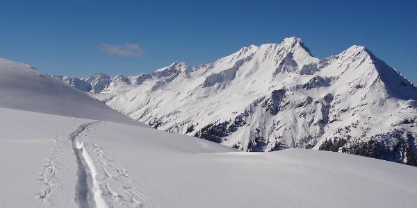 Ausblick auf der Skitour