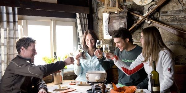 Saveurs culinaires dans les nombreux restaurants de montagne, à Findeln