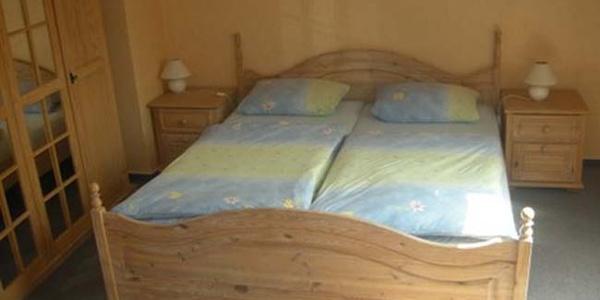 Schlafraum in der Ferienwohnung Gästehaus Steker