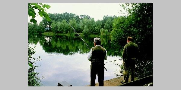 Fischer an der Heder