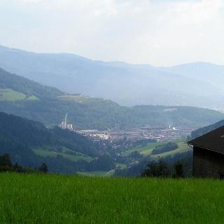 Ausblick auf die Werksanlage der voest alpine Donawitz