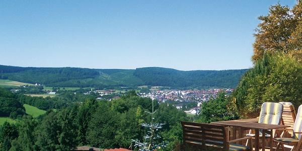 Aussicht vom Hotel Waldcafé Jäger