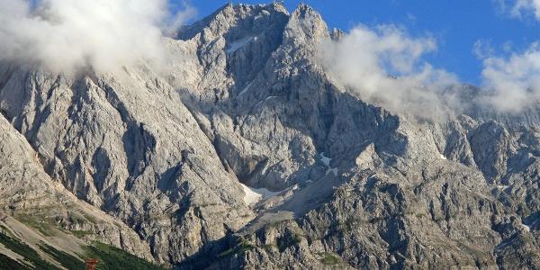 Die Nordwand der Zugspitze.