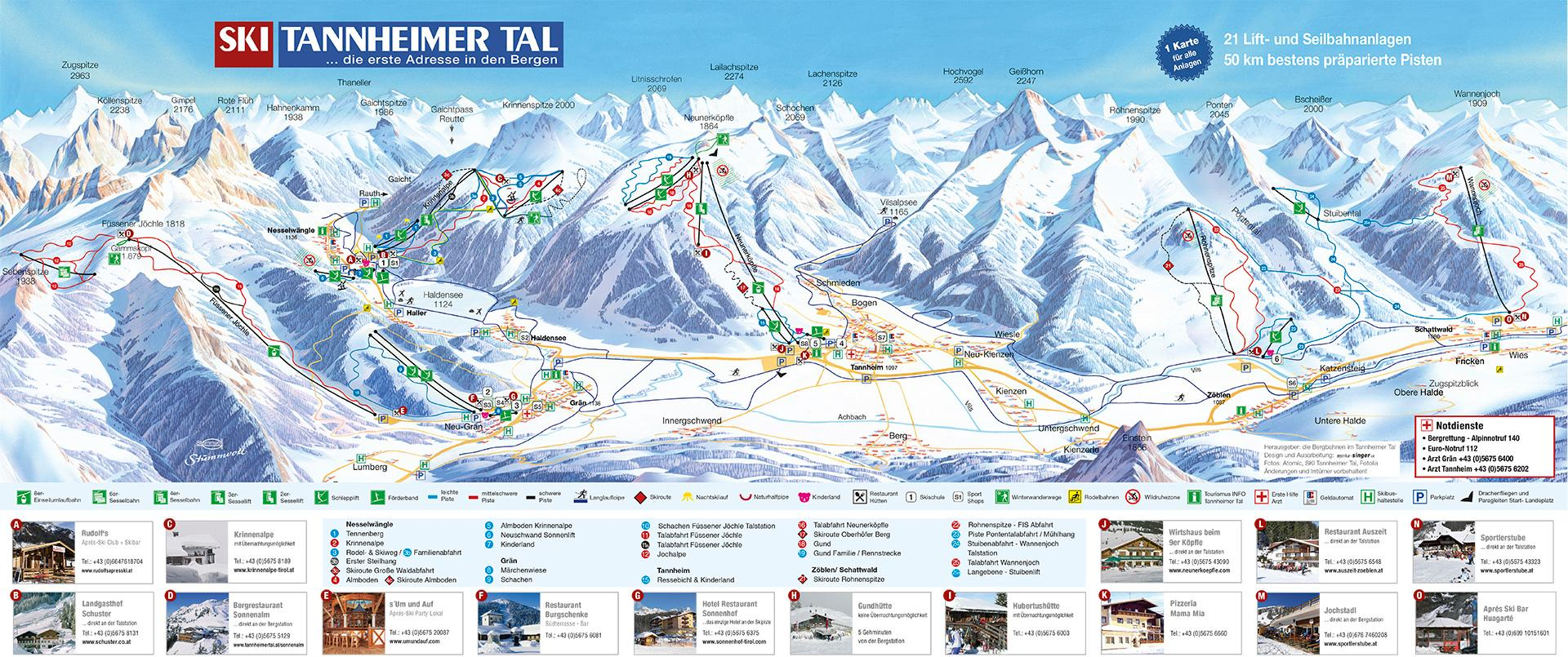 Tannheimer Tal Karte.Ski Tannheimer Tal Ski Resort Outdooractive Com
