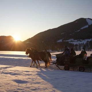 Winterwanderweg Richtung Halseralm