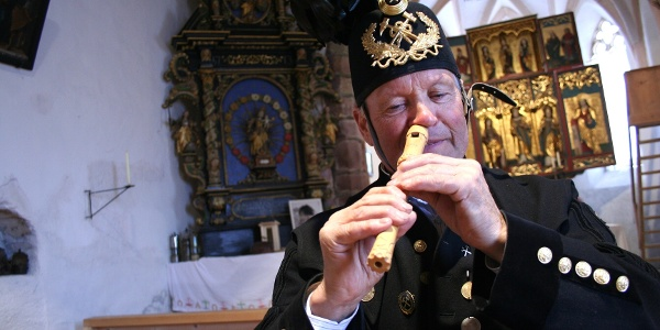 Flötenspieler Adolf Zudrell