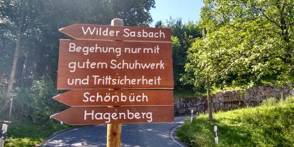 Wilder Sasbach Start-Wegweiser