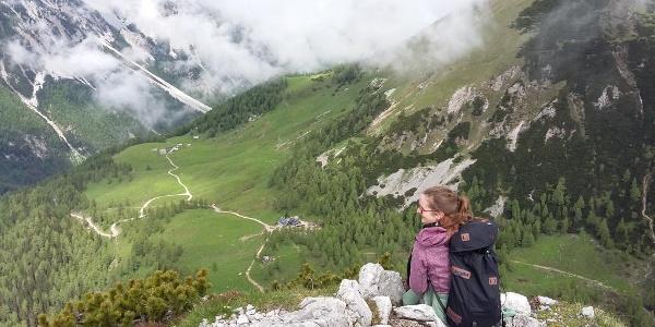 Klagenfurter Hütte von der Bielschitza aus