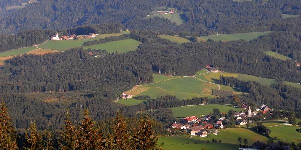 Prebl - Gräbern -  Blick vom Schwarzkogel
