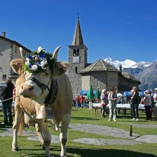 Kirche mit Kuh