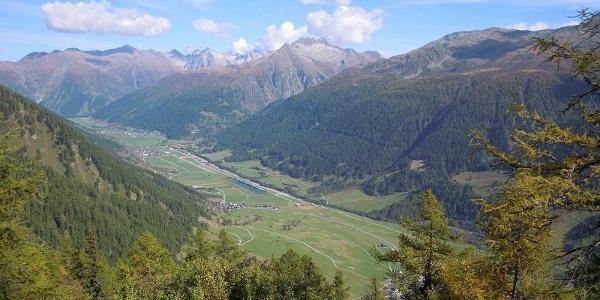 Blick von der Galmihornhütte ins Tal
