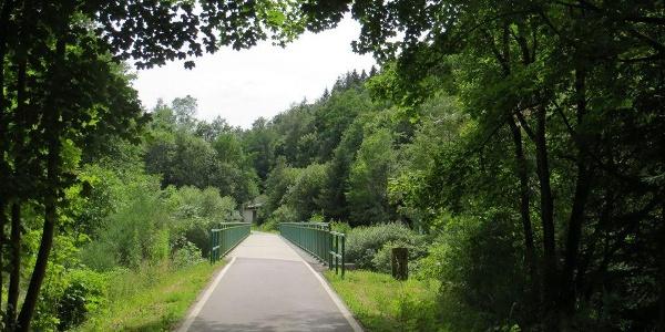 Mulderadweg zwischen Eibenstock und Aue