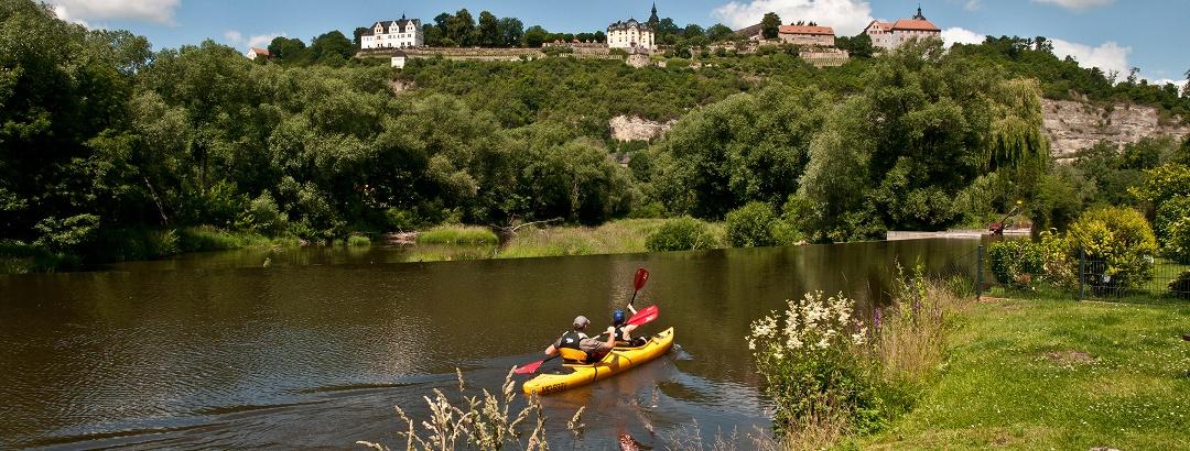 Tourismusregion Saaleland - Paddler auf der Saale