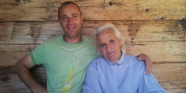Mikša and his mother