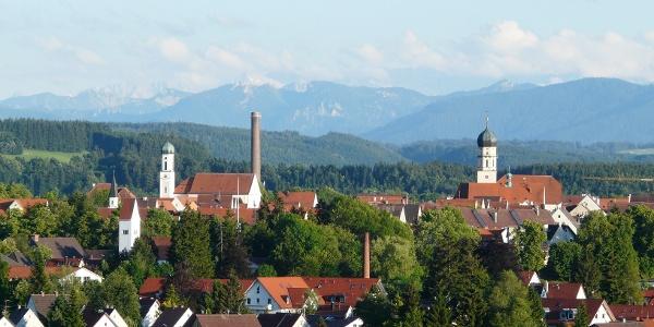 Schongau mit Alpenpanorama