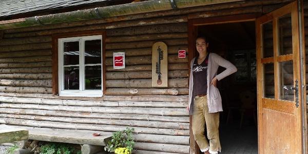 Hütte zum einkehren am Rothaarsteig
