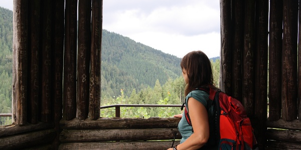 Tolle Ausblick aus der Felsenhütte