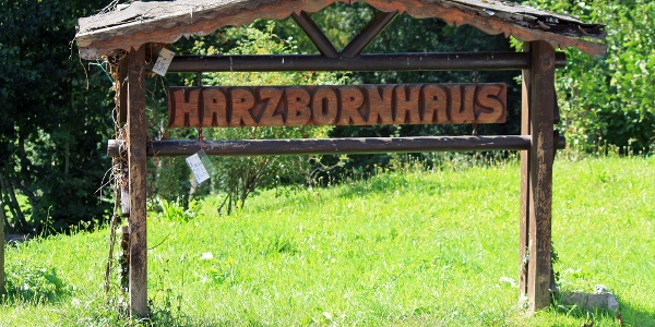 Schild Harzbornhaus