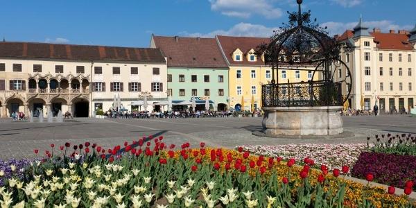 Hauptplatz mit Eisernerm Brunnen