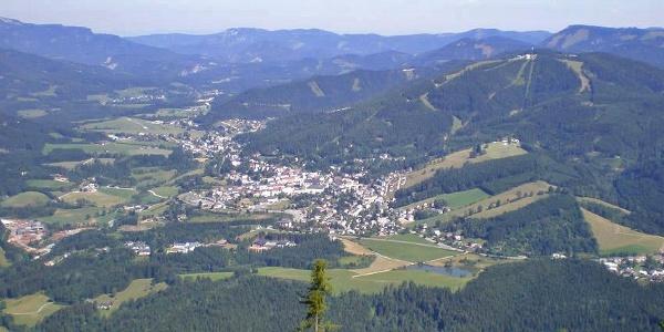 Blick auf Mariazell von der Sauwand