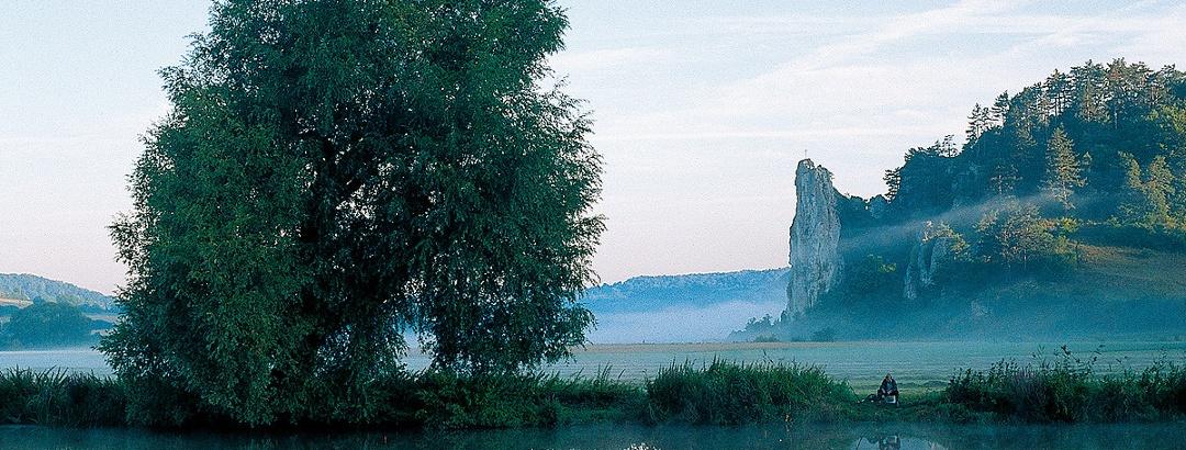 Der Burgsteinfelsen bei Dollnstein.