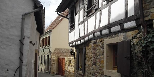 Eines der vielen historischen Gebäude von Deidesheim.