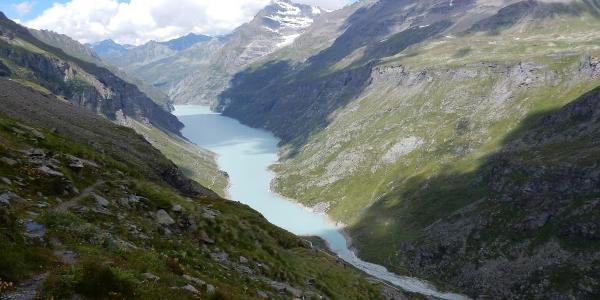 5km langer Stausee Lac de Mauvoisin