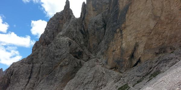 Einstieg zur Cengia Giralba