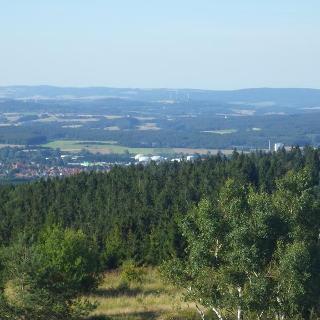 Blick vom Aussichtsturm auf der Preußischen Velmerstot in Richtung Horn
