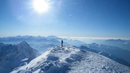 Traumpanorama vom 4810 m hohen Dach der Alpen.