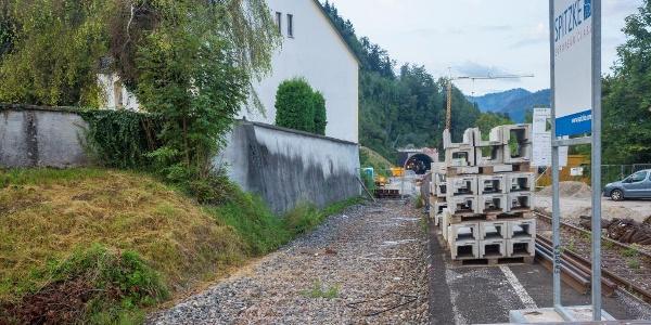Bahnbaustelle Staufener Tunnel