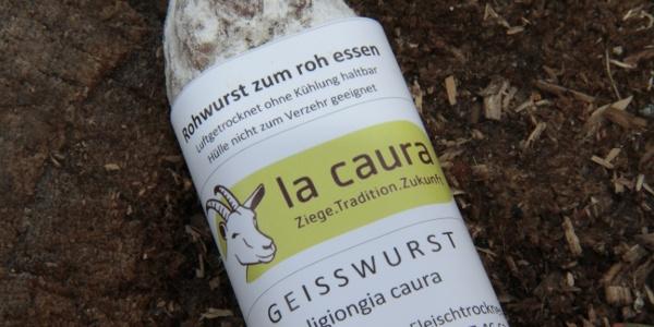 Luftgetrocknete Ziegenwurst