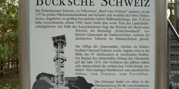 Info-Tafel zur Buck'schen Schweiz