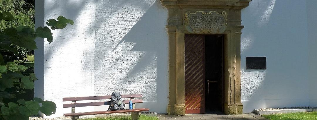 Eingang der Kluskapelle St. Lucia