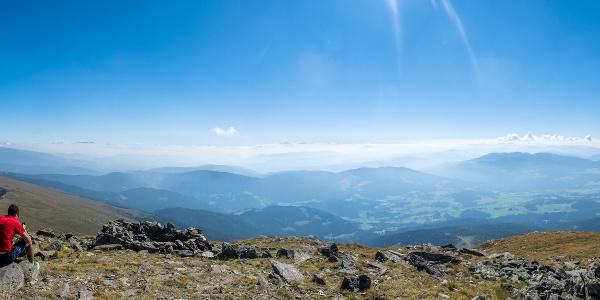 Gipfel-Panorama vom Zirbitzkogel Richtung Süden