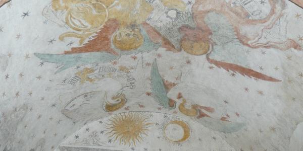 Deckengemälde der Kapelle St. Wendelin