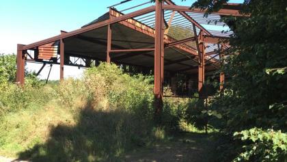 Wackernheim, Ruine vom Umladebahnhof der Festungsbahn