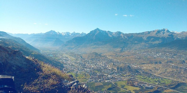 View from the top of the via ferrata to Sion